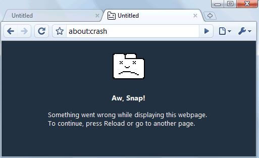 Google Chrome Crashing