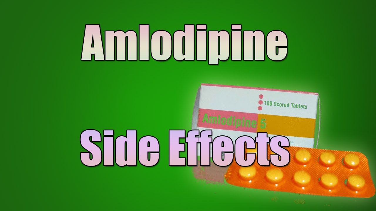 amlodipine besylate side effects
