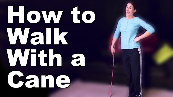 how to use a cane