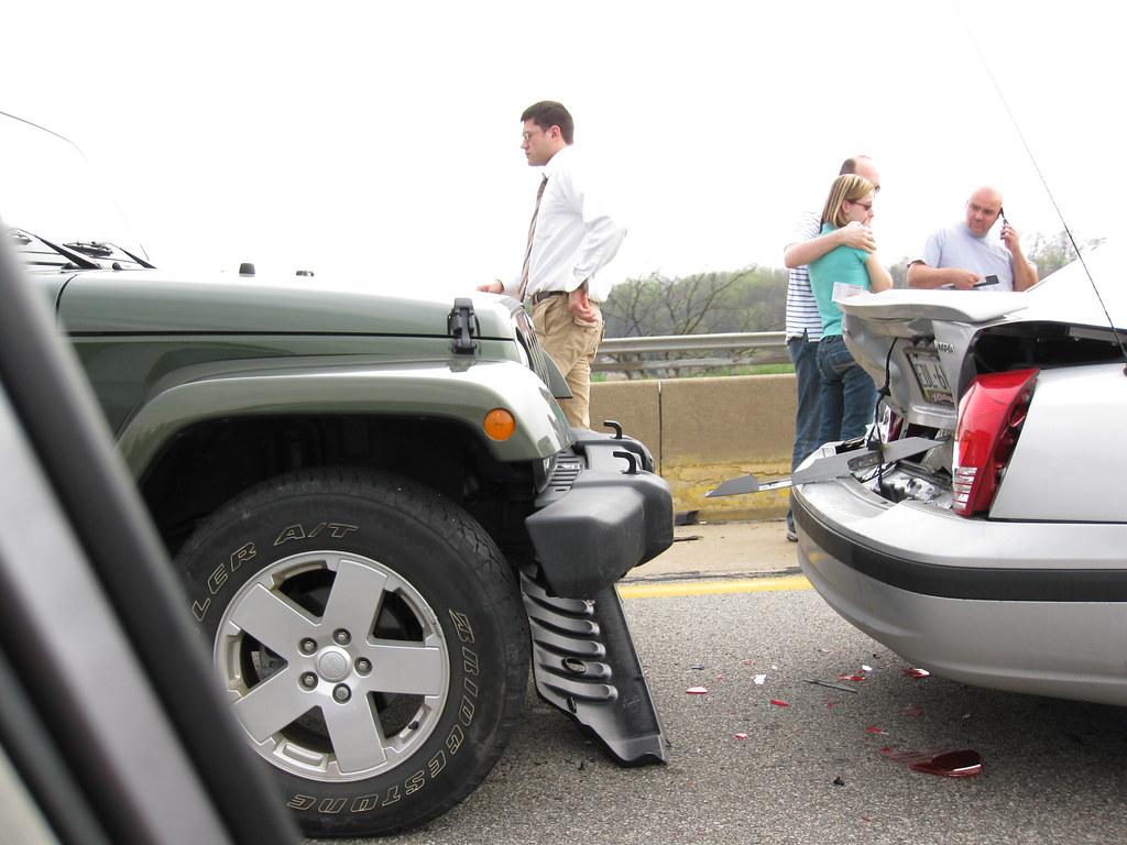 someone hits car